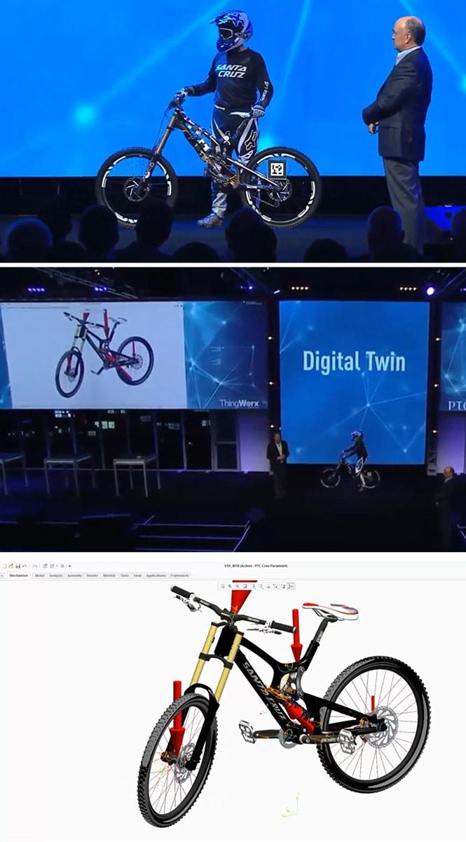 A PTC Digital Twin koncepciója összeköti a valós termékeket a digitális ikerpárjukkal